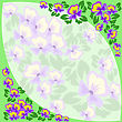 Green Border Of Violets With A Pale Insert