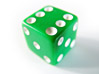 Green Dice stock photo
