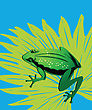 Green Frog On A Lotus Leaf, Groups