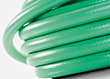 Green Garden Water Hose stock photo
