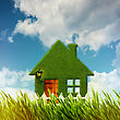 Green House. Environmental Backgrounds For Your Design stock photo