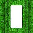 Green Leaves Pattern. Evergreen Hedgegrow. Summer Leaves Background
