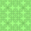 Green Ornamental Seamless Line Pattern. Endless Texture. Oriental Geometric Ornament