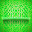 Green Shelf On Ornamental Green Lines Background