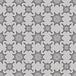 Grey Ornamental Seamless Line Pattern. Endless Texture. Oriental Geometric Ornament