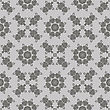 Grey Ornamental Seamless Line Pattern. Endless Texture. Oriental Geometric Ornament stock vector