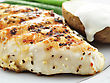 Grilled Chicken Breast With Vegetables, Close Up stock photo