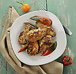 Grilled Chicken Wings With Sweet Pepper