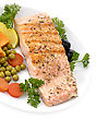 Grilled Salmon Fillet With Vegetables