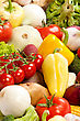 Group Of Fresh Vegetables Isolated stock photo