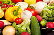 Group Of Fresh Vegetables Isolated stock image