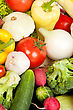 Vegetables Group Of Fresh Vegetables Isolated stock image