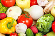 Group Of Fresh Vegetables Isolated On A White Background stock photo