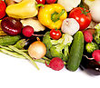Group Of Fresh Vegetables Isolated
