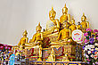Group Of Buddha Statues, Thailand stock photography