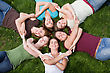 Group of College Girls stock image