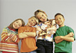 Group of Kids Posing stock image