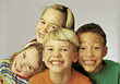 Group of Kids Smiling stock photography
