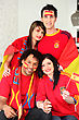 Group Of Spanish Supporters stock image