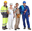 Smiling Group Of Workers stock image