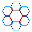 Group Of Six Hexagons With Copy Space For Text Connected Like A Honeycomb