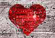 Grunge Background With Abstract Heart stock image