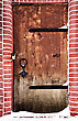 Hardwood Grunge Door Of The Church stock photography