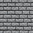 Grunge Grey Wall. Abstract Grey Brick Pattern