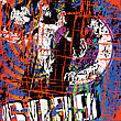 Grunge Poster, Abstract Layout In Vivid Colors