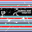 Grungy Bended Vector Design Of Stripes With Barcode