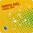 Grungy Vector Design Of Dots With Barcode stock vector