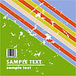 Grungy Vector Design Of Stripes With Barcode