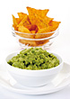 Mexican Food Guacamole and Tortillas stock photo