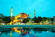 Ottoman Hagia Sophia In Istanbul, Turkey Early In The Morning stock image
