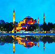 Hagia Sophia In Istanbul, Turkey Early In The Night