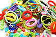 Hair Clips And Elastic Rings stock image
