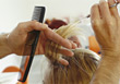 Hairstylists Hair Stylist Cutting Hair stock image