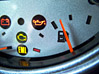 Dashboard Half Full Fuel Gauge stock photo