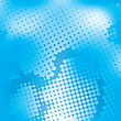 Halftone Blue Mesh Vector Background
