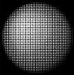 Halftone Circle Texture Isolated On Dark Background