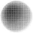 Halftone Circle Texture Isolated On White Background