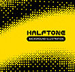 Halftone Illustration. Black And Yellow Vector Background