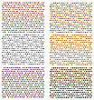Halftone Patterns. Set Of Halftone Dots. Colored Dots On White Background. Colorful Halftone Texture. Halftone Dots. Halftone Effect