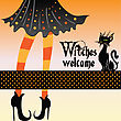 Halloween Greeting Card stock illustration