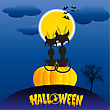 Halloween Love stock illustration