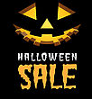 Halloween Sale Vector Background With Pumpkins Lantern