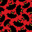 Halloween Seamless Pattern With Funny Bats stock vector