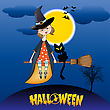 Halloween Witch Background stock vector