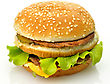 Hamburger On White Background stock photography