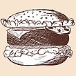 Hamburger Sketch. EPS 10 Vector Illustration Without Transparency stock illustration